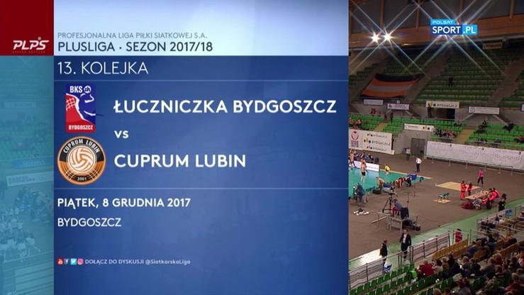 2017-12-08 Łuczniczka Bydgoszcz - Cuprum Lubin 0:3. Skrót meczu