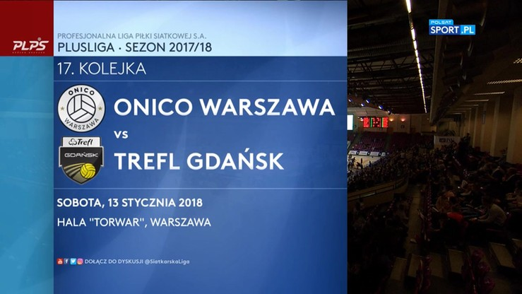 ONICO Warszawa - Trefl Gdańsk 3:0. Skrót meczu