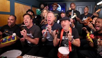 2016-11-17 Metallica zagrała zabawkami swój szlagier. Muzycy przyjęli zaproszenie Jimmiego Fallona