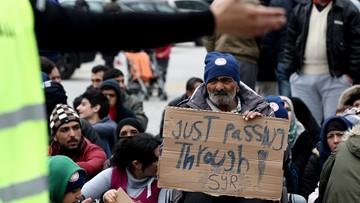 """17-03-2016 15:46 """"Otwórzcie granice"""". Protest migrantów w Grecji"""