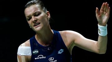 2015-10-25 WTA Finals: Radwańska przegrała z Szarapową