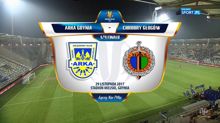Arka Gdynia - Chrobry Głogów 1:1. Skrót meczu