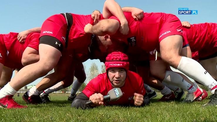 Dziennikarz Polsatu Sport trenował z polskimi rugbystami!