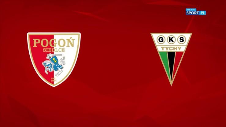 Pogoń Siedlce - GKS Tychy 1:0. Skrót meczu