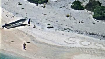 """28-08-2016 11:20 Uratowani z bezludnej wyspy dzięki """"SOS"""" na piasku"""