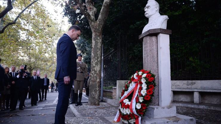 Watykan: Prezydent złożył wieniec przed pomnikiem Piłsudskiego
