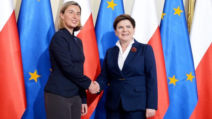 Partnerstwo Wschodnie i ruch bezwizowy z UE. Szydło spotkała się z Mogherinii