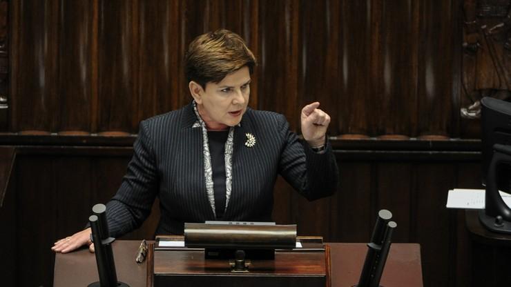 Szydło zapowiedziała publikację orzeczenia TK. Premier z pełnym emocji przemówieniem w Sejmie