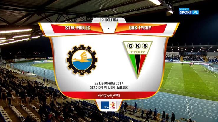 2017-11-25 Stal Mielec - GKS Tychy 3:0. Skrót meczu