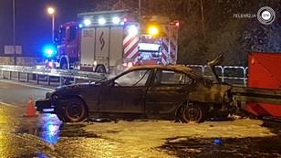 Tragiczny wypadek w Wielkopolsce. 8 osób w aucie - zginął 18-latek, który jechał w bagażniku