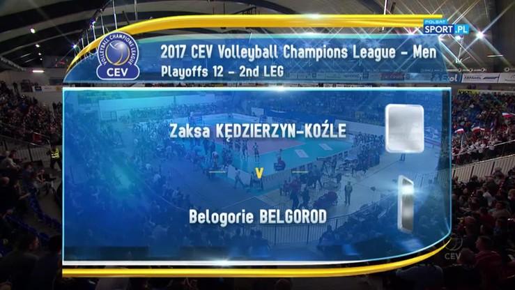 2017-03-22 ZAKSA Kędzierzyn-Koźle - Biełogorie Biełgorod 1:3. Skrót meczu