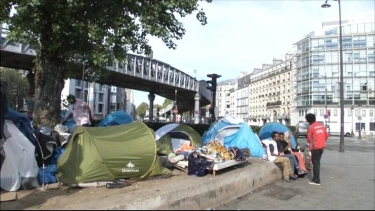 Likwidacja kolejnego nielegalnego obozowiska migrantów w Paryżu