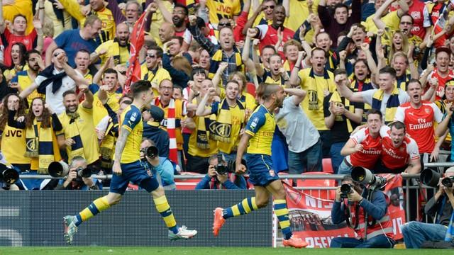 Arsenal zdobył Puchar Anglii - Szczęsny w bramce