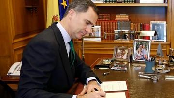 03-05-2016 12:12 Król Hiszpanii rozwiązał parlament; nowe wybory 26 czerwca