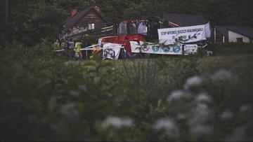 Czwarta blokada wycinki w Puszczy Białowieskiej. Aktywiści są w Postołowie