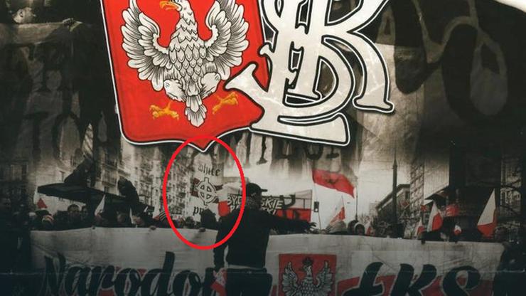 """Krzyż celtycki z hasłem """"white pride"""" propaguje sport, nie rasizm. Zdaniem prokuratora z Łodzi"""