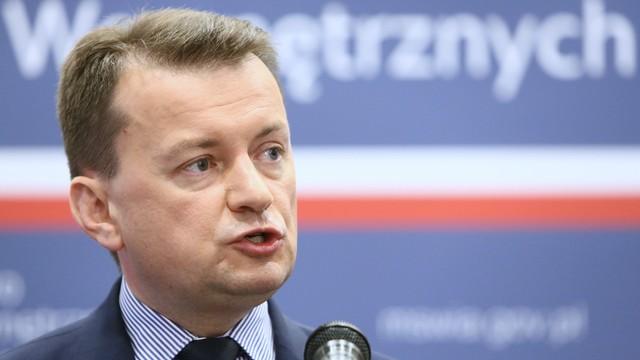Błaszczak po wydarzeniach w Ełku: w Polsce jest bezpiecznie, bo rząd PiS nie realizuje zobowiązań PO