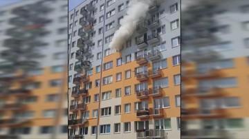 2017-06-05 Pożar w bloku we Włocławku
