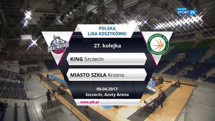 King Szczecin - Miasto Szkła Krosno 105:78. Skrót meczu