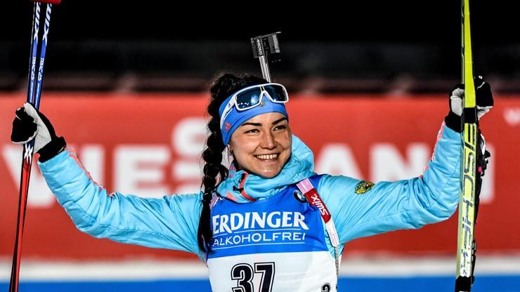 PŚ w biathlonie: Pierwsza wygrana Akimowej, Hojnisz w drugiej dziesiątce