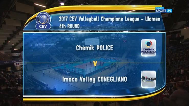 Chemik Police - Imoco Volley Conegliano 2:3. Skrót meczu