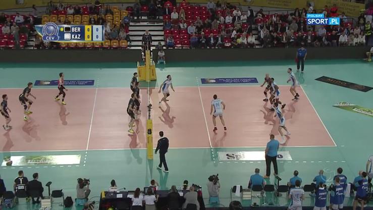 Berlin Recycling Volleys - Zenit Kazań 0:3. Skrót meczu