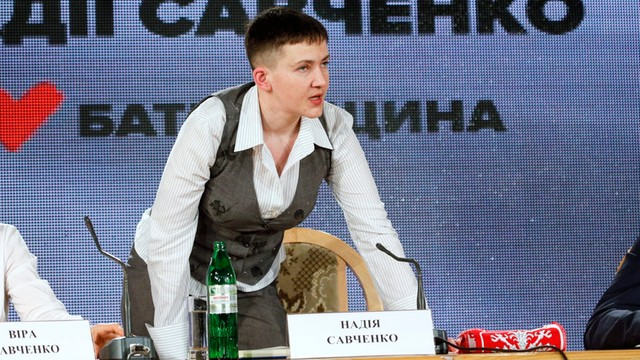Nadia Sawczenko ogłosiła głodówkę, chce uwolnienia jeńców