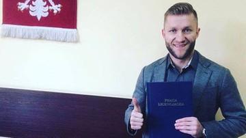 2016-12-23 Błaszczykowski obronił pracę licencjacką