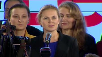 Barbara Nowacka po ogłoszeniu wyników