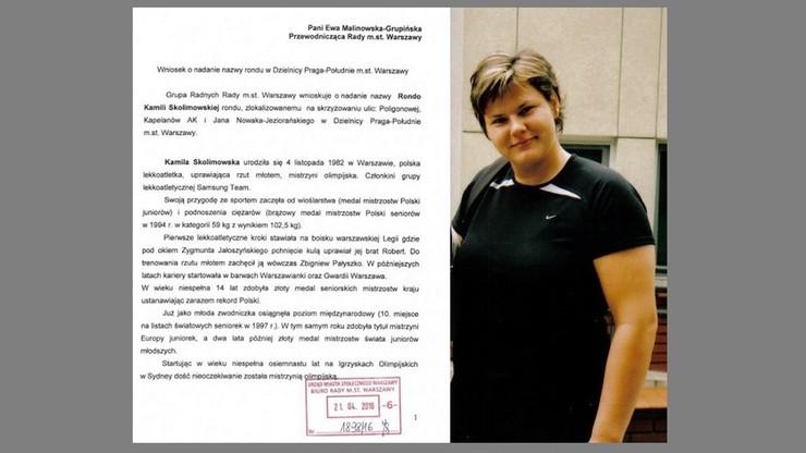 Chcą ronda im. Kamili Skolimowskiej