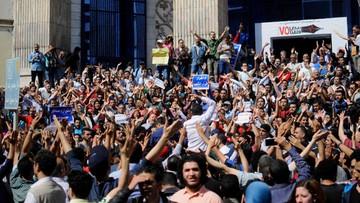 15-04-2016 18:13 Egipt: protest przeciw przekazaniu dwóch wysp Arabii Saudyjskiej