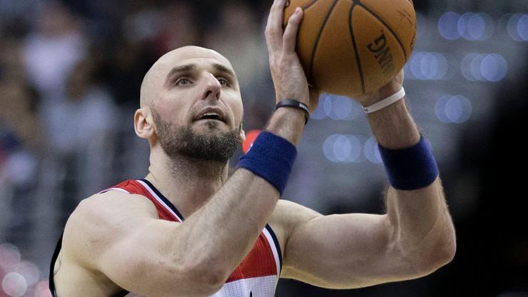 NBA: Niegroźna kontuzja Gortata i  przegrana Wizards