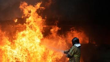 2017-08-03 MŚ 2018: Pożar na jednym ze stadionów