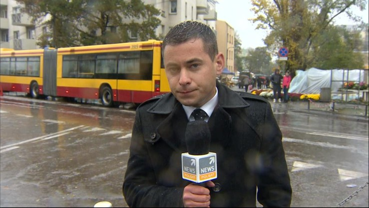 Oberwanie chmury w Warszawie. Zobacz, jak reporter Polsat News walczył z pogodą
