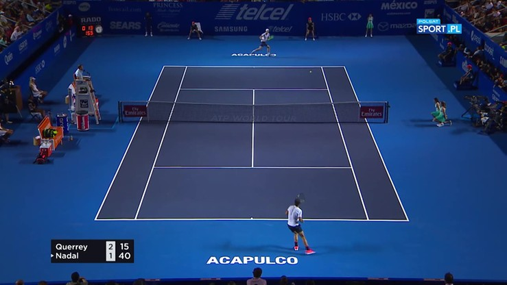 Sam Querrey - Rafael Nadal 6:3, 7:6. Skrót meczu