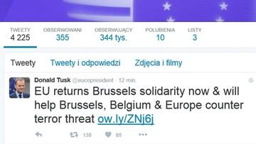 """22-03-2016 15:34 Świat reaguje. """"To czarny dzień dla Europy"""""""