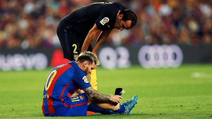 Barcelona zatrzymana przez Atletico. Kontuzja Messiego