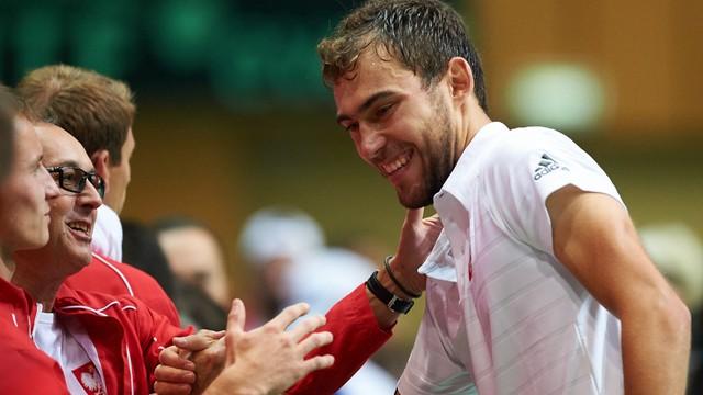 Puchar Davisa: zwycięstwo Janowicza, Polska - Słowacja 1:1
