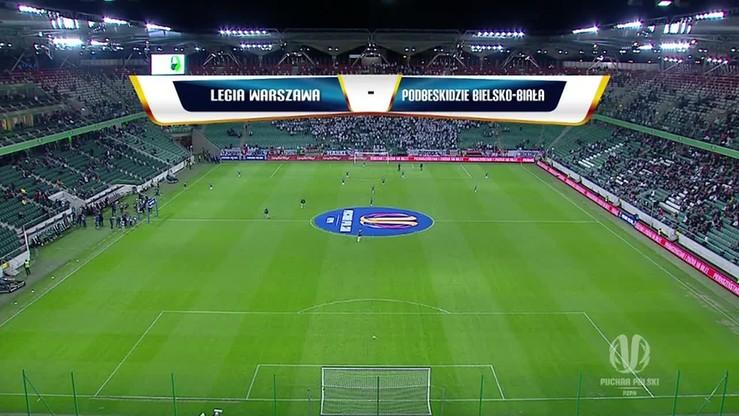 Legia Warszawa - Podbeskidzie Bielsko-Biała 2:0. Skrót meczu