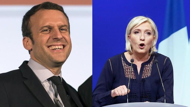Sondaż: Macron i Le Pen po 26 proc. głosów w pierwszej turze