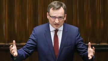 """""""Ścigano policjantów, uniewinniono koleżankę z PO"""". Ziobro o wymiarze sprawiedliwości za czasów PO-PSL"""