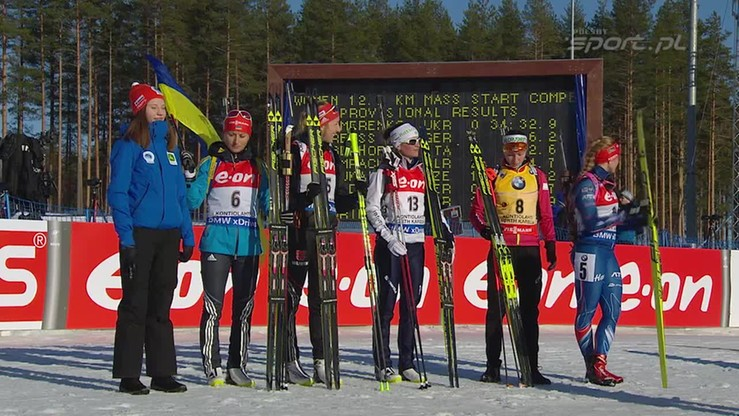 Ceremonia wręczenia drużynowych medali w Kontiolahti