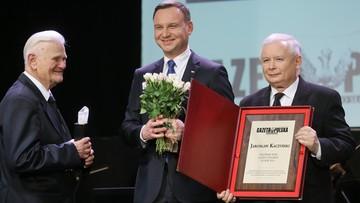 """Jarosław Kaczyński Człowiekiem Roku """"Gazety Polskiej"""". Nagrodzony także Andrzej Duda"""