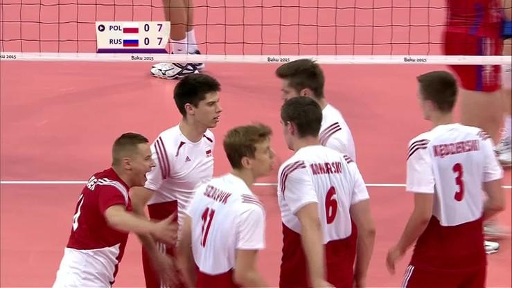 2015-06-28 Polska - Rosja 1:3 (24:26, 25:23, 23:25, 23:25). Skrót meczu