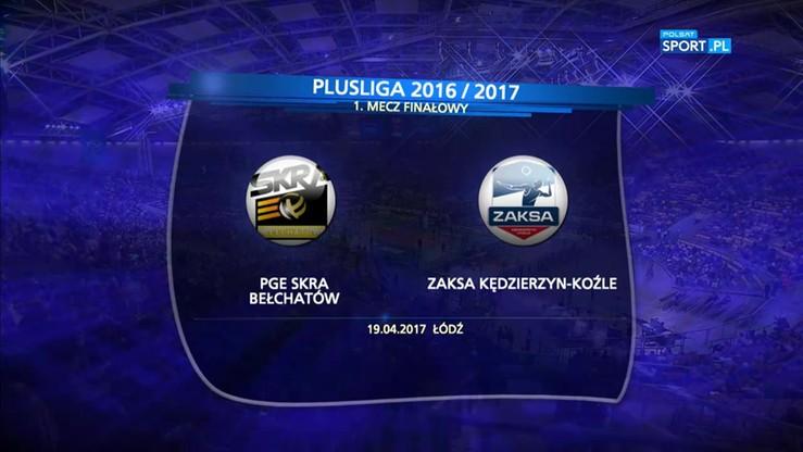 PGE Skra Bełchatów - ZAKSA Kędzierzyn-Koźle 0:3. Skrót meczu