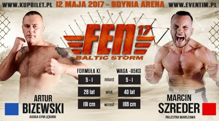 Rewanż Szredera z Bizewskim w karcie walk FEN 17 Baltic Storm!