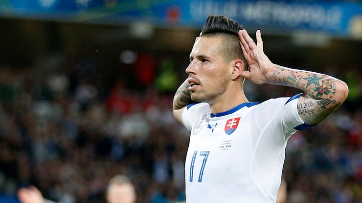 Piękny gol Hamsika. Słowacy dwukrotnie skarcili Rosjan