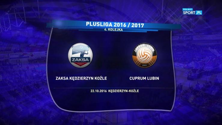 2016-10-22 ZAKSA Kędzierzyn-Koźle - Cuprum Lubin 3:0. Skrót meczu