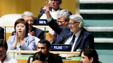 """02-06-2017 18:11 """"Historyczny sukces polskiej dyplomacji"""". Polska niestałym członkiem Rady Bezpieczeństwa ONZ"""