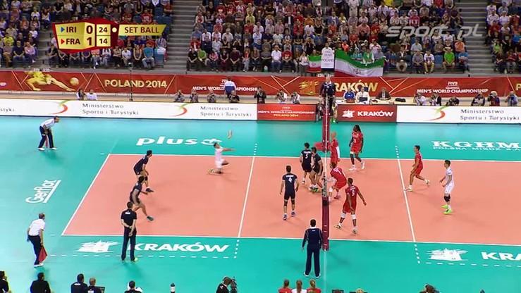 Iran - Francja 1:3. Skrót meczu